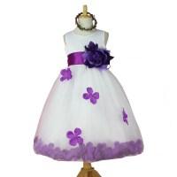 Popular Flower Girl Dress with Rose Petals-Buy Cheap ...
