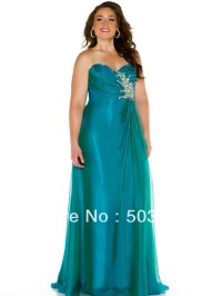 Free shipping green crystal plus size prom dresses 2014 ...