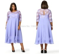 Newest Plus Size Women Clothing A Line Lace Spaghetti Mid ...