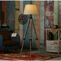 Aliexpress.com : Buy Rustic Wooden Tripod Floor Lamp ...
