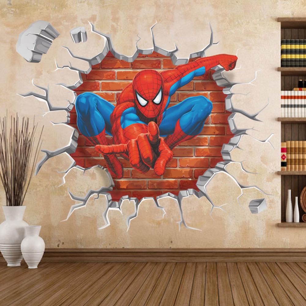 spiderman wall stickers kids rooms breaking wall decal wall sticker ideas kids rooms country home design ideas