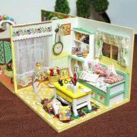 DIY Wooden Miniature Doll House Living Room Furniture Toy ...