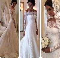 Best Selling Wedding Dress Long Sleeves Lace Vintage ...