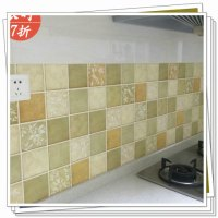 Mosaic thickening wallpaper bathroom waterproof stickers ...