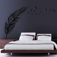 Flying Feather Wall Sticker Home Decor Ddesivo De Parede ...