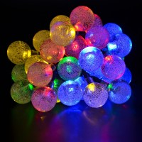 Colorful Solar LED Bubble Christmas string lights Outdoor ...