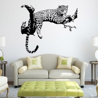 Cute Tiger Leopard Waterproof Wall Sticker Home Decor ...
