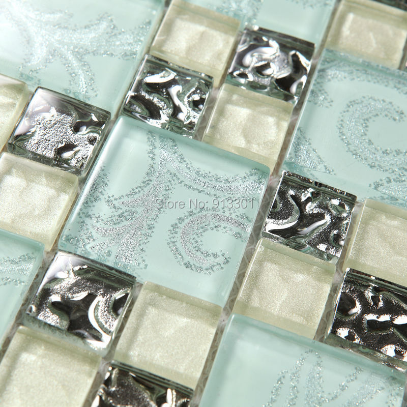 glass mosaic cheap kitchen backsplash stickers green crystal glass peel stick mosaic tiles kitchen bathroom backsplashes