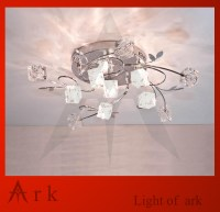 ark light Free shipping Romantic Crystal ceiling light