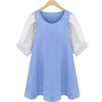 Plus Size Casual Summer Dress Cotton Aline Mini Dress ...