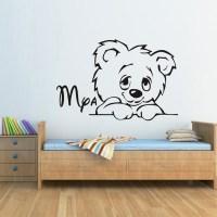 Custom made Cartoon Teddy Bear Children Wall Decal ...
