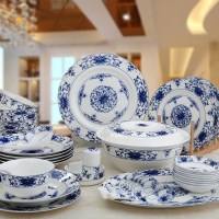 LUMIHome Dinnerware Sets 40 Chinese wind blue and white ...