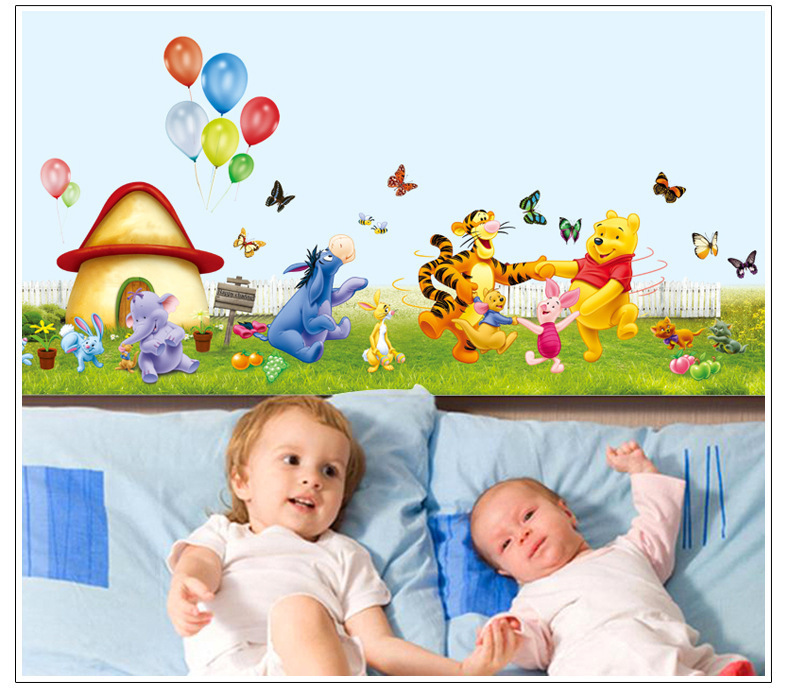 hot sale diy winnie pooh wall sticker kids room cartoon wall sale wall sticker commercial window wall stickers christmas