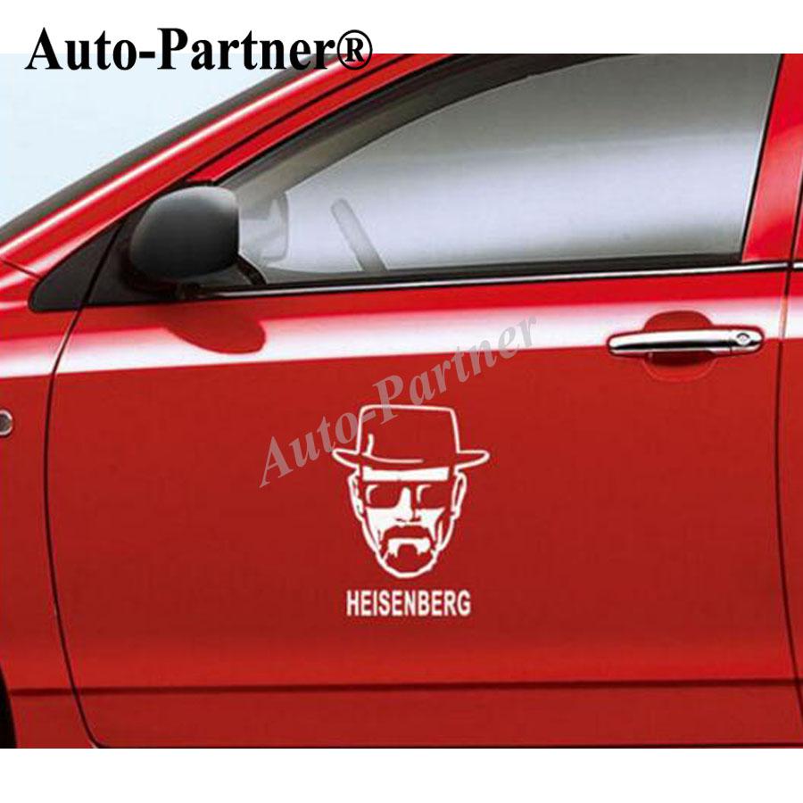 Car styling breaking bad car self adhesive decals auto heisenberg cartoon walter white body sticker design