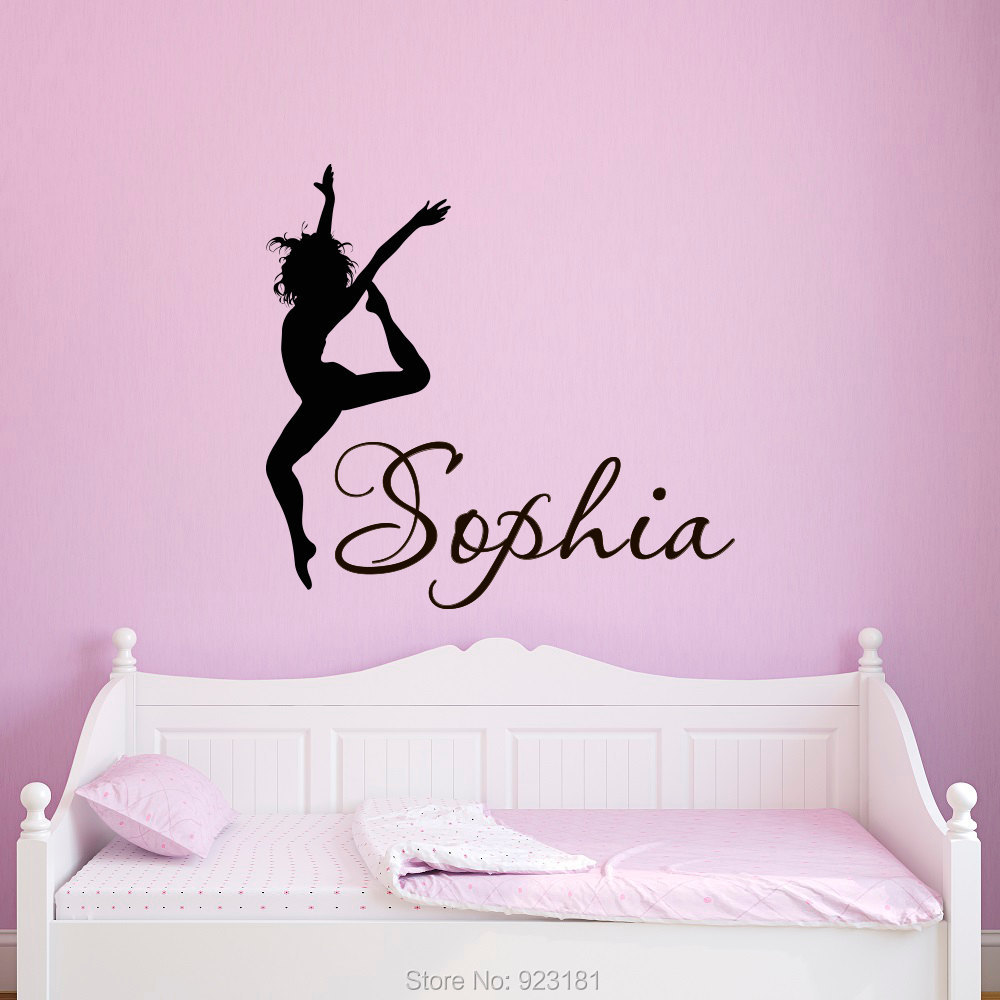 dance girls wall art sticker decal home diy decoration wall home pretty fairy girl wall decals stickers