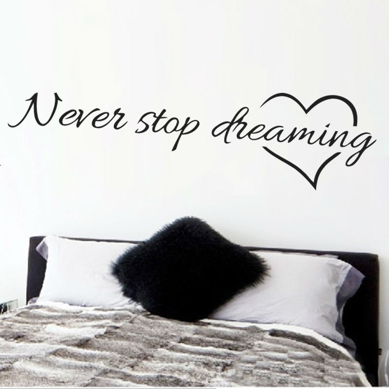 dreaming inspirational quotes wall art bedroom decorative stickers hope inspirational wall stickers quotes art decals