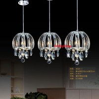 dining lamp glass pendant lamp three lights crystal ...
