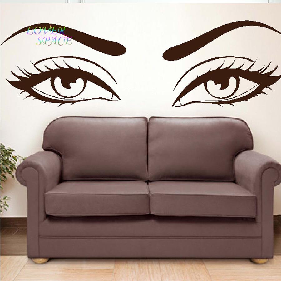 buy sexy eyes wall stickers wow modern beauty salon valentine wall true beauty wall sticker