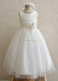 IVORY WITH COLOR SASH INFANT TODDLER PAGEANT BRIDAL PARTY ...