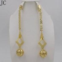 Earrings For Women Long Drop Dangle Earrings Copper 18K ...