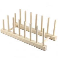 #Cu3 New Wooden Plate Rack Wood Stand Display Holder Lids ...