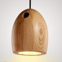 Modern Design Oak Pendant Lights Natural Minimalist Wood ...