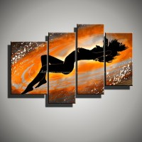 4 panel wall art canvas decorative wall panel naked