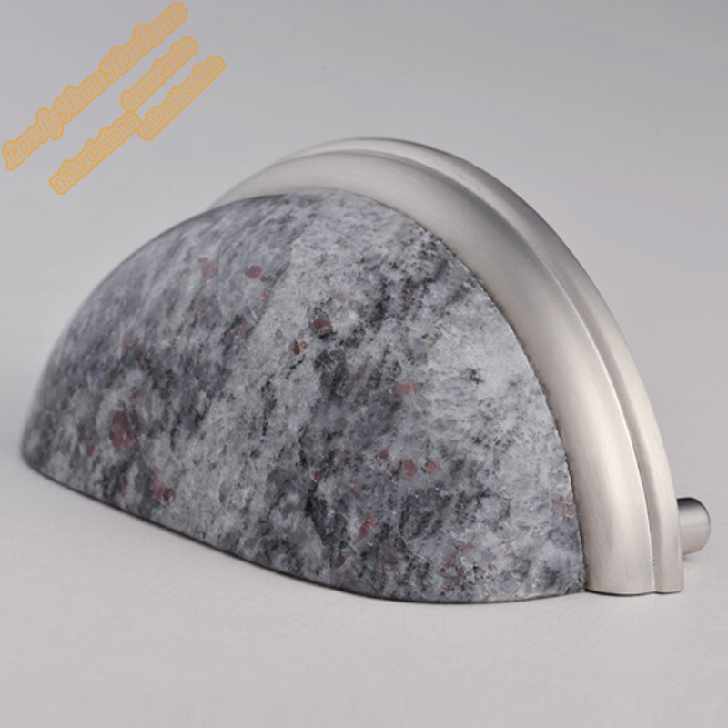 76mm Granite Zinc Alloy Cabinet Hardware,Indian Blue Cup