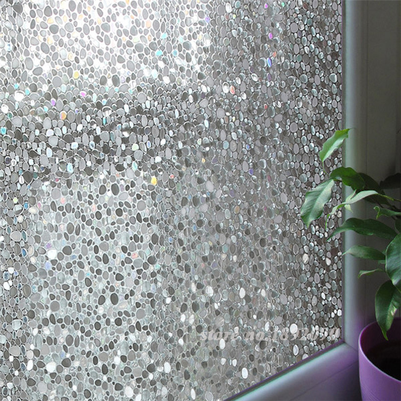 Hot Sale 45*100cm Decorative Privacy Frosted Static Cling