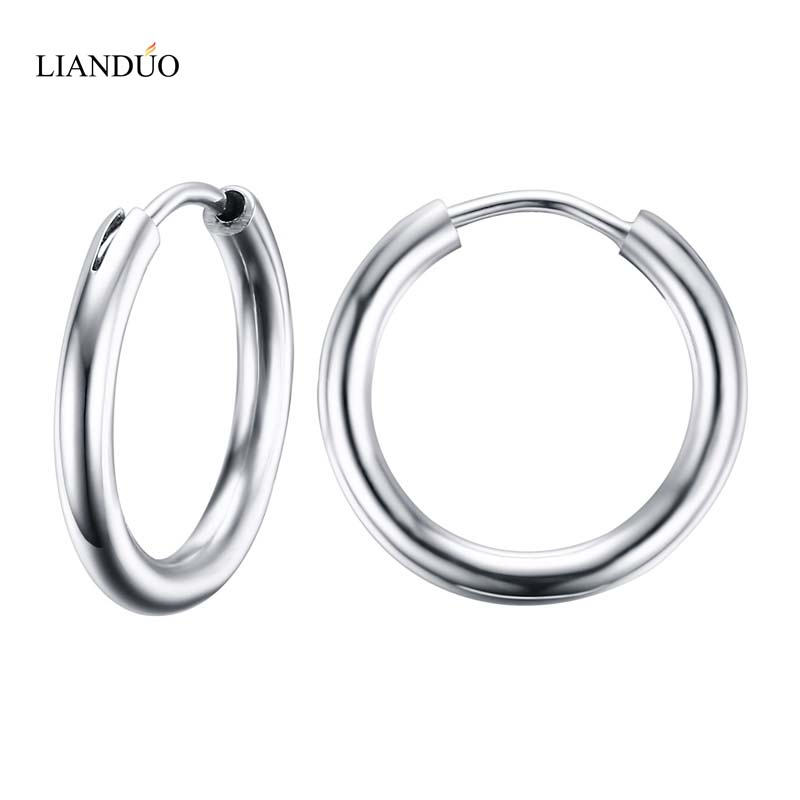 Meaeguet Stunning Round Small Endless Hoop Earrings For
