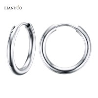 Meaeguet Stunning Round Small Endless Hoop Earrings For ...