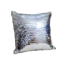 Hot sale silver sequin throw pillows cushion without inner