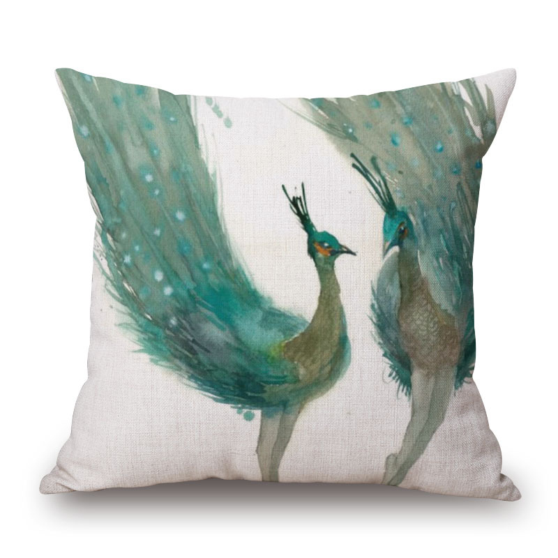 Sofa Cushions That Hold Up Original Animal Watercolor Panting Home Cushion Hold Throw