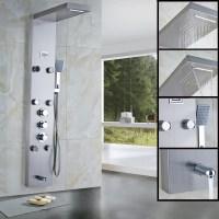 New Waterfall Rain Thermostatic Shower Column Body Massag ...