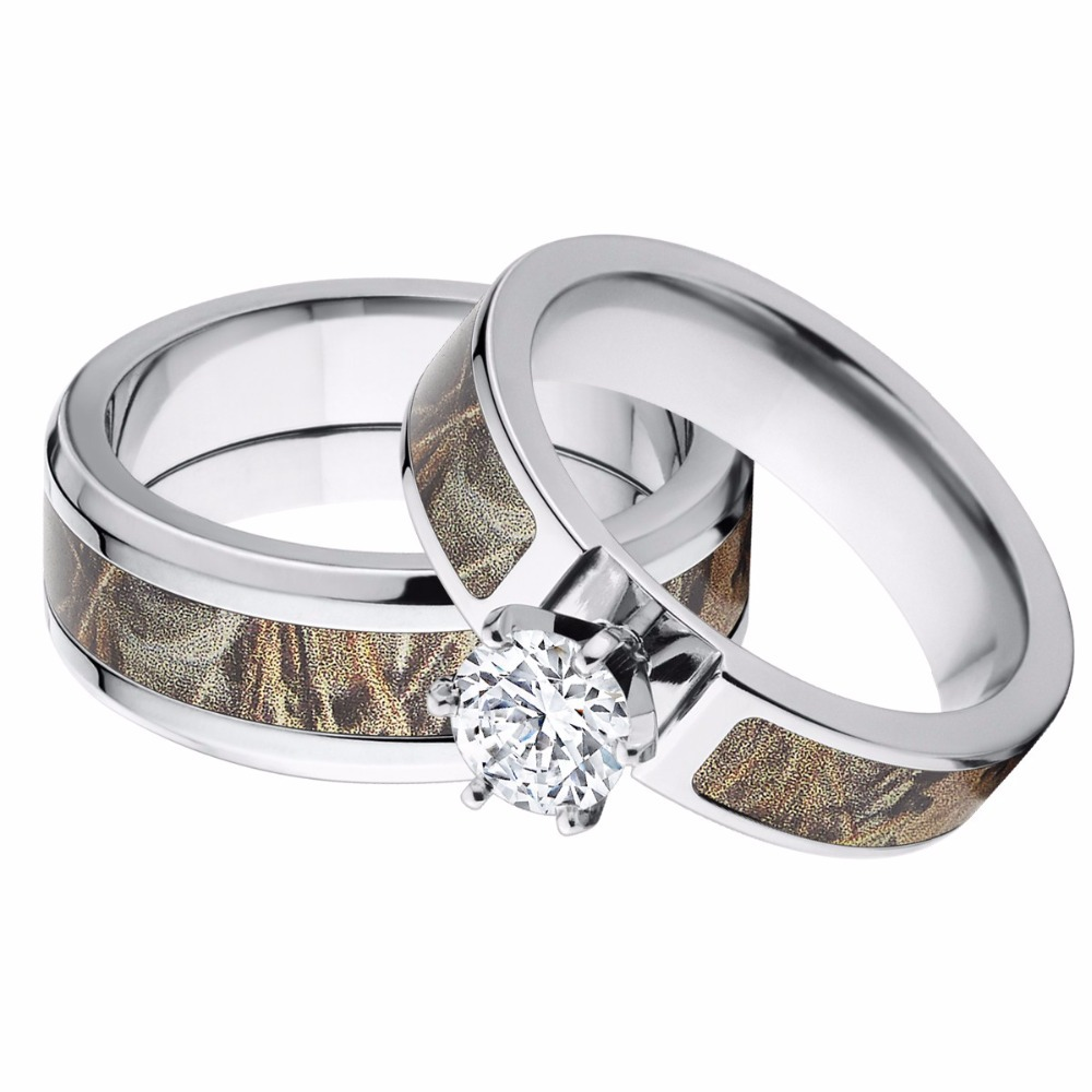 gallery of camo womens wedding rings - His And Her Camo Wedding Rings