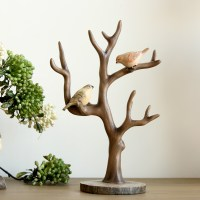 French Country Vintage Style Resin Bird Tree Twig Tree ...