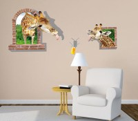 new 3d giraffe window large wall stickers home decor ...