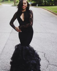 Prom Dresses With Sleeves Black | www.imgkid.com - The ...