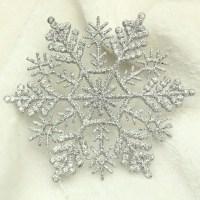 Free shipping,10cm Glitter snowflake ,Plastic,christmas
