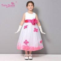 Buy Flower Girl Dresses WHITE Rose Petal Dress Wedding ...