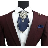 Men's formal wear groomsmen diamond bow tie wedding groom ...
