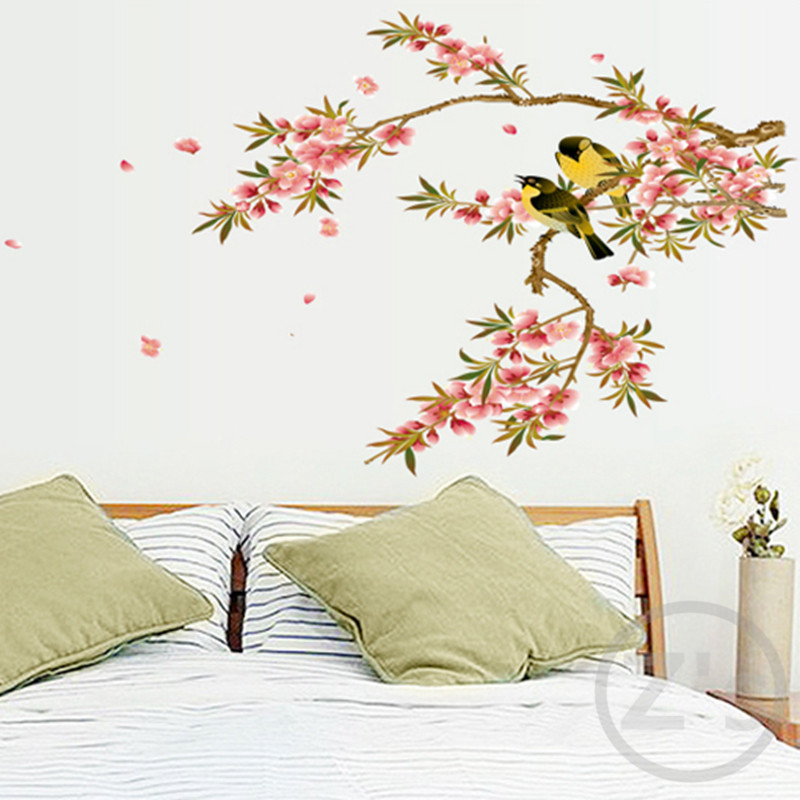bird branch wall stickers tree decoration birds adhesive vinyl home wall sticker decor beautiful wall sticker decoration