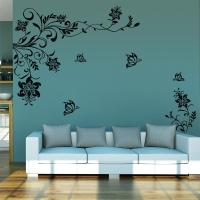 8402 Classic flowers vine TV background wall stickers home ...