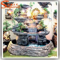 Guangzhou artificial modern fiberglass rock waterfall ...