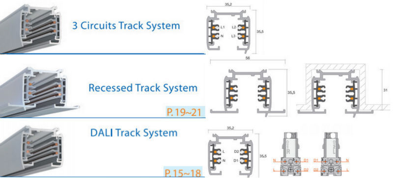 "Track Lighting Connectors Track Led Lighting Two Circuit Track Lighting System ""t"