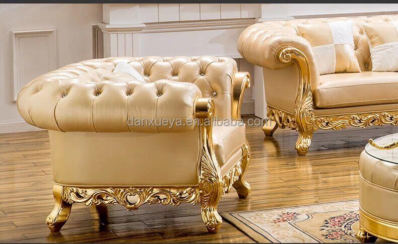 Genuine Leather Furnitureclassic Sofadubai Furniture 841