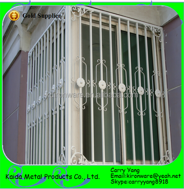 Simple wrought iron house window grill design view window