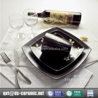 Low Cost High Quality Black Square Plates Dinnerware Sets ...