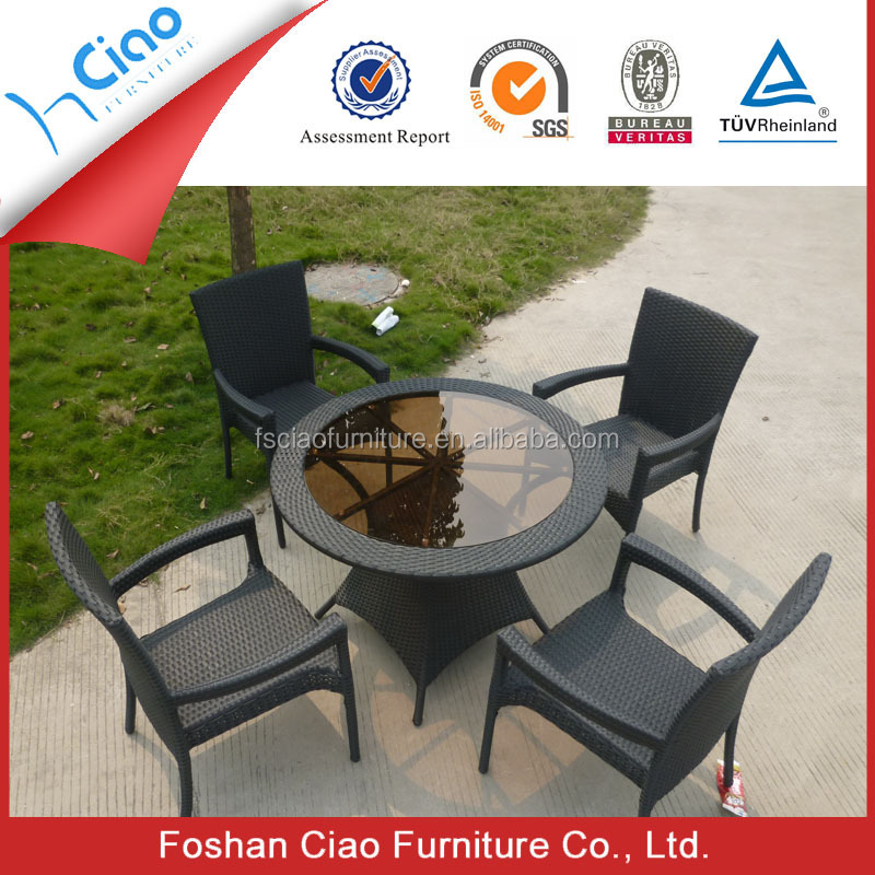 space saving restaurant kitchen dining furniture rattan table pcs table chairs set kitchen furniture pub home restaurant dining