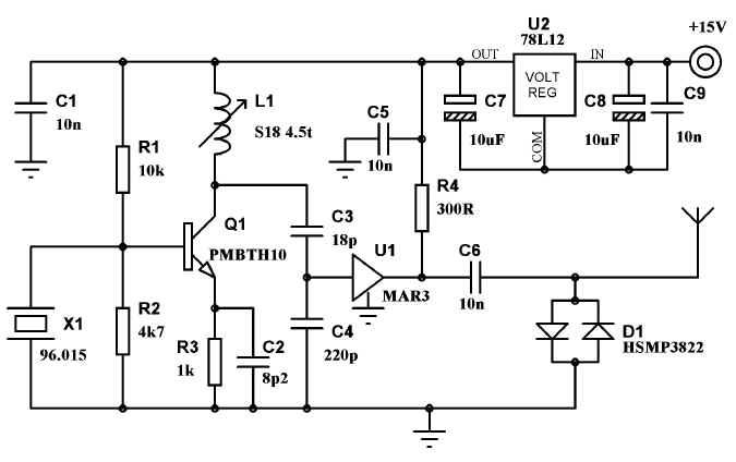 2 4ghz transmitter circuit